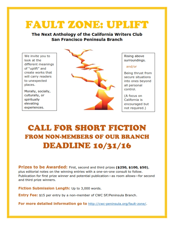 """Call for Submissions for """"Fault Zone: Uplift"""" Writing Contest"""